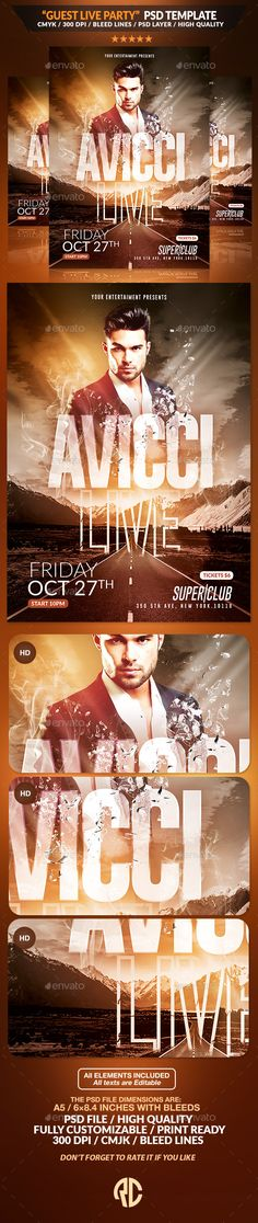 Guest Live Party   Psd Flyer Template