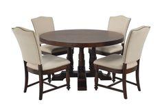 Arlo Upholstered 5 Piece Round Dining Set