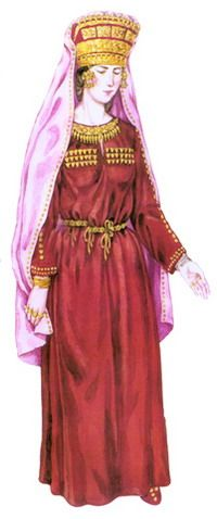 Scythian queen.  (5th - 4th century BCE).