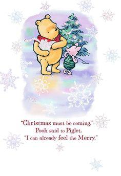 Disney Winnie the Pooh A Season of Merry Christmas Card Piglet Winnie The Pooh, Winnie The Pooh Pictures, Winnie The Pooh Christmas, Winnie The Pooh Quotes, Pooh Bear, Eeyore, Disney Winnie The Pooh, Disney Christmas, Tigger
