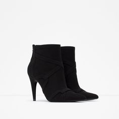 Image 3 of HIGH HEEL ROCKER ANKLE BOOTS from Zara