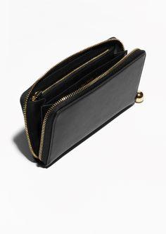 & Other Stories   Leather Zip-Around Wallet