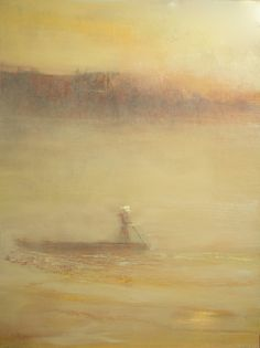 ARTFINDER: Punting by Maurice Sapiro - oil painting on canvas
