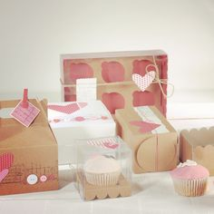 Cupcake boxes to die for! Visit our website for more cupcake ideas: http://selfpackaging.com/56-confectionery-boxes / #cupcakes #cupcakeboxes #cupcakepackaging #baking #homemade