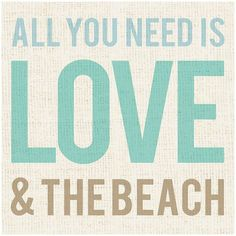 ''Love & the Beach'' Canvas Wall Art found on Polyvore