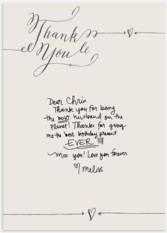 a free Thank You note download #calligraphy #thanks #thank_you