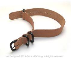 Leather Zulu Watch Strap 4 Rings heavy duty 20mm by MOtangStudio, $39.97