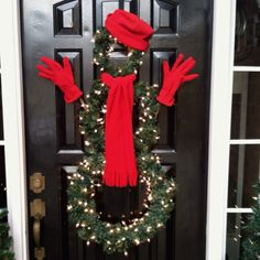 fun #snowman #wreath idea! #Christmas #holiday #decor {Hey, have you downloaded the FREE Sweater-izer App yet?  It's awesome fun if you like a tacky Christmas sweater!  Check it out: http://funistheanswer.com/sweater-izer/