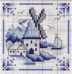 Ricami, lavori e centinaia di schemi a punto croce di tutti i tipi, gratis: Quadretti a punto croce in stile olondese