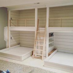 Bunk room - So excited about the bunk room progress at chestnuthilljob It's going to be the best sleepover spot 👬👬 designmanifest Bunk Bed Rooms, Bunk Beds Built In, Bunk Beds With Stairs, Kids Bunk Beds, Queen Bunk Beds, Build In Bunk Beds, Cabin Bunk Beds, Double Bunk Beds, Best Bunk Beds