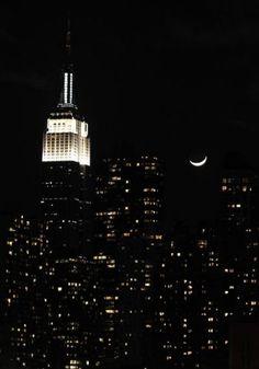 Manhattan by night.