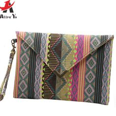 c10640ab658 Attra-Yo!! women bag women clutch canvas bags purse national style high  quality