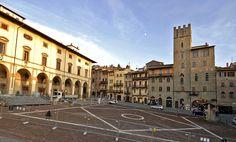 """Piazza Grande, Arezzo. Aquí se rodó """"La vida es bella""""."""