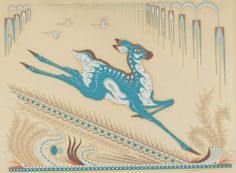 """Woody Crumbo, Potawatomi, """"Untitled (Stylized Antelope),"""" c. Native American Heritage Month, Native American Artwork, National Gallery Of Art, Favorite Words, Art Object, Types Of Art, Woody, American Indians, Love Art"""