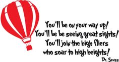 Dr. Seuss Vinyl Wall Decal - Soar to High Heights