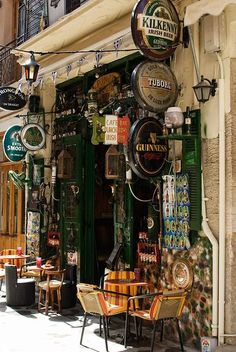 Something for everyone Irish Pub - Bar - Cafe - Signs. Café Bar, Pub Bar, Dublin Pubs, Dublin Ireland, Café Restaurant, Irish Beer, Pub Design, Shop Fronts, Shop Signs