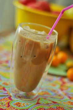 Iced coffee. Perfekt for summer when it's too hot for coffee.