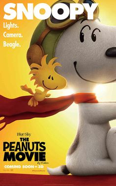 The Peanuts Movie poster of Snoopy