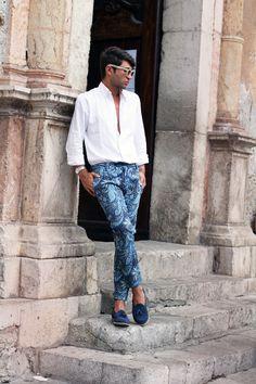 Paisley Pants in Taormina Summer 2012    source: www.thethreef.com    #style #menswear #boy