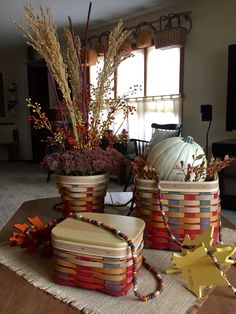 Love this Fall's baskets from Longaberger.