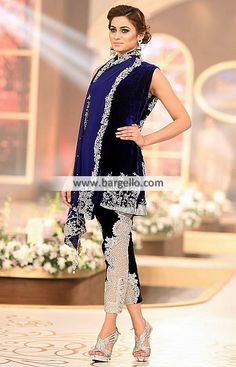 Stylish Evening Wear for with Cropped Trouser Pakistani Evening Dresses Tennessee USA Velvet Evening Dresses with Cropped Trousers Party Wear, Party Dress, Velvet Dress Designs, Fashion Illustration Dresses, Pakistani Bridal Dresses, Velvet Fashion, Dress Collection, Winter Collection, Couture Week