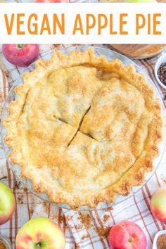 The best ever homemade vegan apple pie recipe made from scratch! Flaky and buttery crust with a warm spiced apple filling! #veganapplepie #veganpie #vegandessertrecipes #vegandesserts Healthy Vegan Desserts, Vegan Dessert Recipes, Delicious Vegan Recipes, Raw Food Recipes, Sweet Spice, Vegan Pie, Apple Filling, Apple Pie Recipes, Vegan Blogs
