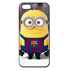 FC Barcelona minions Iphone 5 case cover   bestiphone5caseshop - Accessories on ArtFire