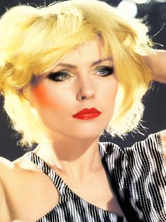 Debbie Harry. What band could she possibly front except one called 'Blondie?'.