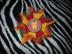 Bottlecap Flower Ironman Hair Bow ~ Free Shipping