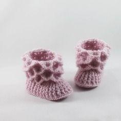 Chaussons bébé tricotés main personnalisables