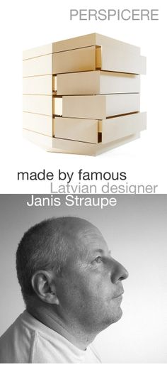 Commode PERSPICERE made by one of the famous Latvian designers Janis Straupe. Find out more about his works: http://truelatvia.lv/en/page-538441/JANIS%20STRAUPE