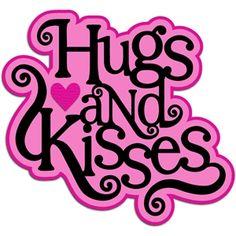 hugs kisses svg scrapbook files svg files for scrapbooking svg rh pinterest com hugs and kisses clipart free