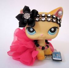 Littlest Pet Shop clothes LPS accessories Custom OUTFIT Pink CAT NOT INCLUDED