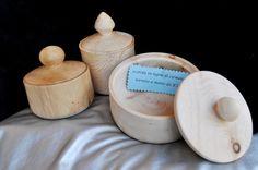 Scatole in legno di cirmolo realizzate a mano al tornio