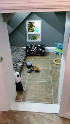 Dog room underneath the stairs!!