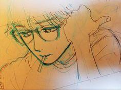 Shishio Sensei / Hirunaka no Ryuusei / Yamamori Mika sketch