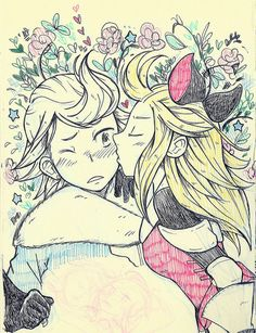 Ringabel x Edea from way back in October. Felt good to break out the sketchbook again to finish up some sketches.