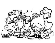 Hi Draw So Cute fans, get your FREE coloring pages of my