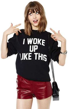 I Woke Up Like This Sweatshirt is on sale now for - 25 % ! is on sale now for - 25 % !