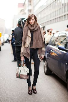 layering clothes--a must for moi cuz I'm always freezing!