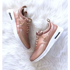 more photos 8844c 6e855 ( 195) ❤ liked on Polyvore featuring shoes, silver, sneakers   athletic  shoes, women s shoes, logo shoes, rose gold shoes, white colour ...