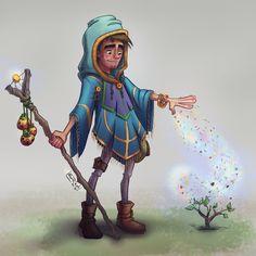 Shaman boy - digitalArt - CharacterDesign - http://facebook.com/AlbertCasado.art