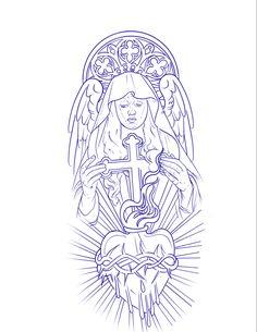 Tattoo Stencil Paper, Half Sleeve Tattoo Stencils, Half Sleeve Tattoos Designs, Forearm Sleeve Tattoos, Jesus Christ Drawing, Jesus Drawings, Tattoo Drawings, Pisces Tattoo Designs, Lion Tattoo Design