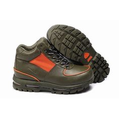 ad42374e628 Exclusive Nike ACG Air Max Goadome Men Leather Boots Green Orange 1004 For   73.50 Go