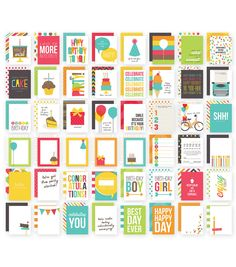 Simple Stories 3X4 48/Pkg - Birthday Snap Card Pack