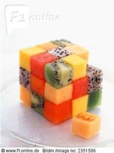 Rubik's Cube made out of cut fruits! For when I finally solve the damn thing