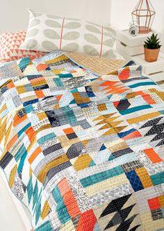 Nordic Cool quilt by Karen Lewis for Love Patchwork & Quilting issue 23