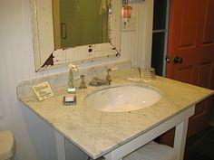 The Porches Inn has beautiful rustic chic bathrooms