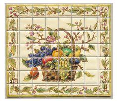 Fruit & Vegetable Basket Tile by Tiny Ceramic