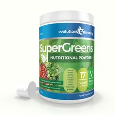SuperGreens Powder is a high strength food supplement containing 17 super fruits and vegetables. Combine SuperGreens powder with juices or smoothies and add to soups and foods to help improve their nutritional value.